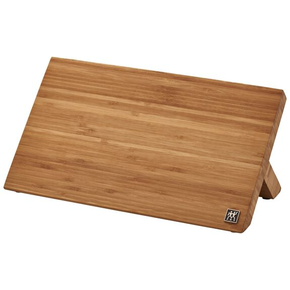 Bamboo Magnetic Easel - holds 9 knives,,large 2