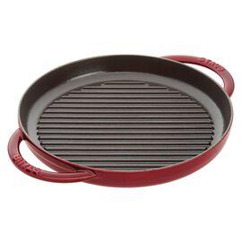 Staub Cast Iron, 10-inch round Enamel Pure Grill, Grenadine