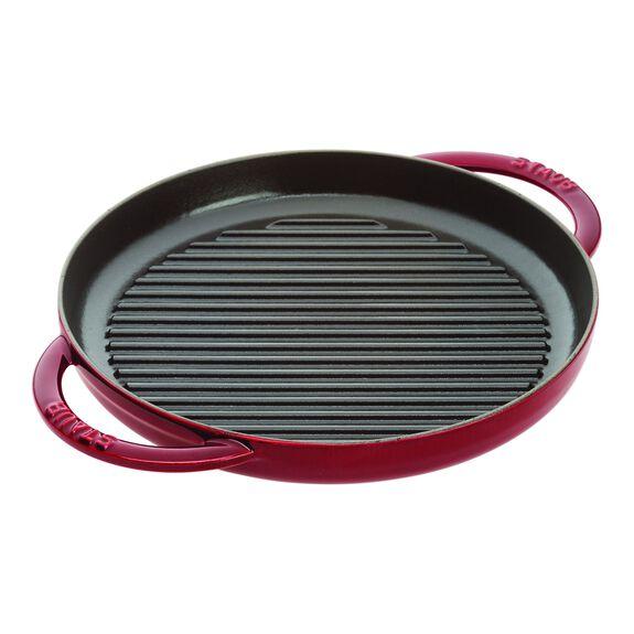 10-inch round Enamel Pure Grill, Grenadine,,large