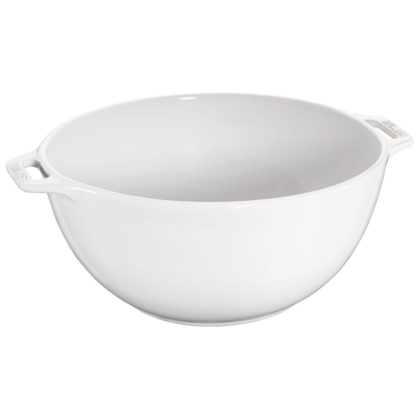 25 cm Ceramic round Bol, Pure-White,,large 1