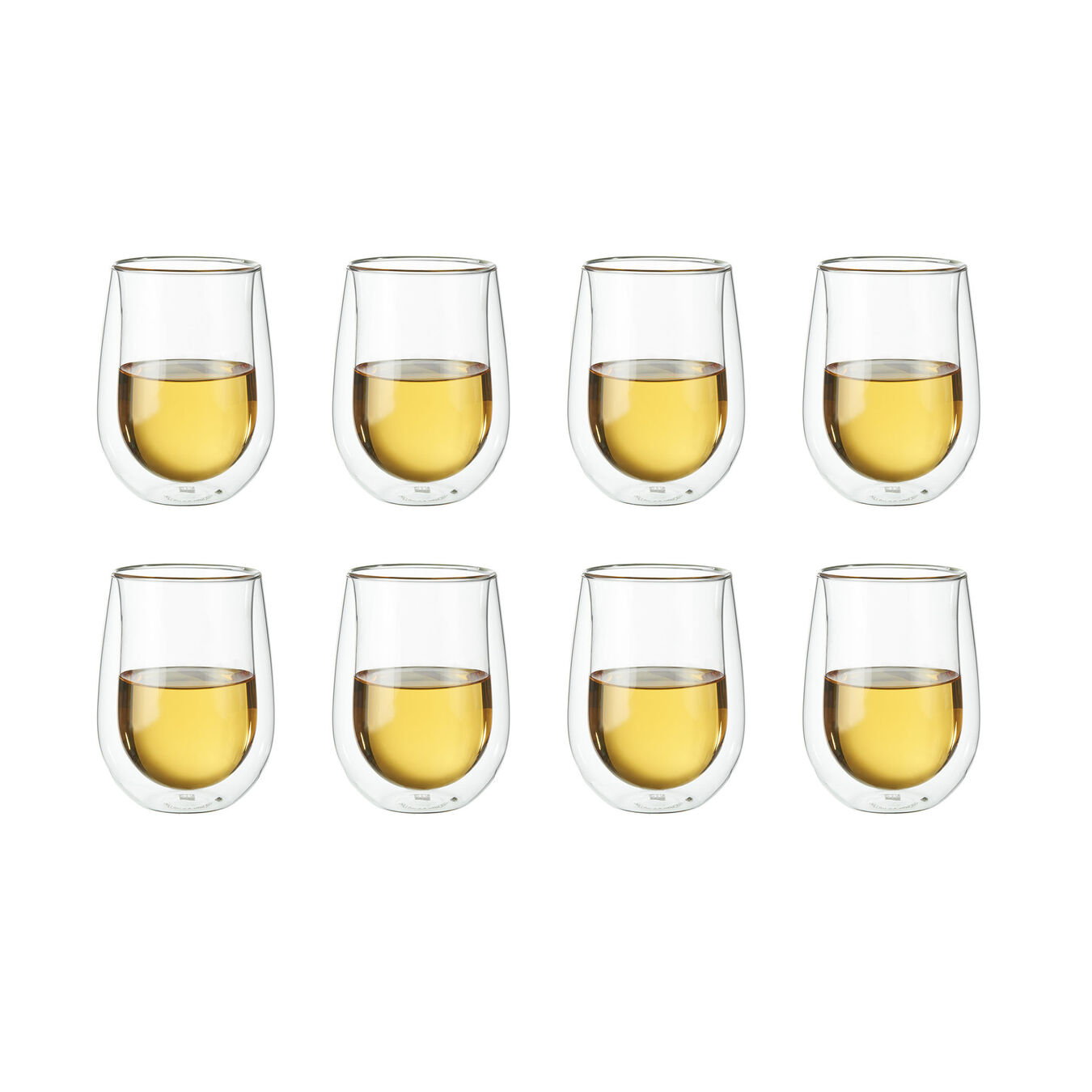 10-oz / 8-pc, Double wall Stemless White Wine Glass Set,,large 2