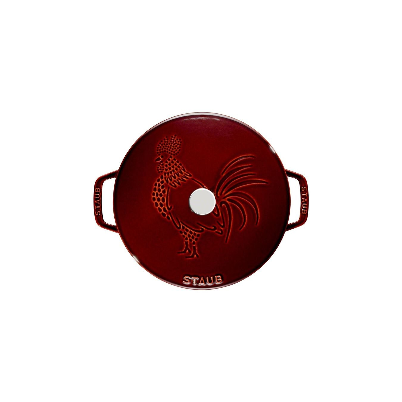 3.75 qt, Essential French Oven Rooster Lid, grenadine,,large 11