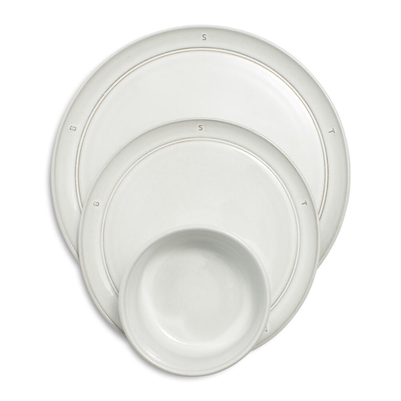 Serving set, 12 Piece | Off-White | Ceramic | round | Ceramic,,large 1