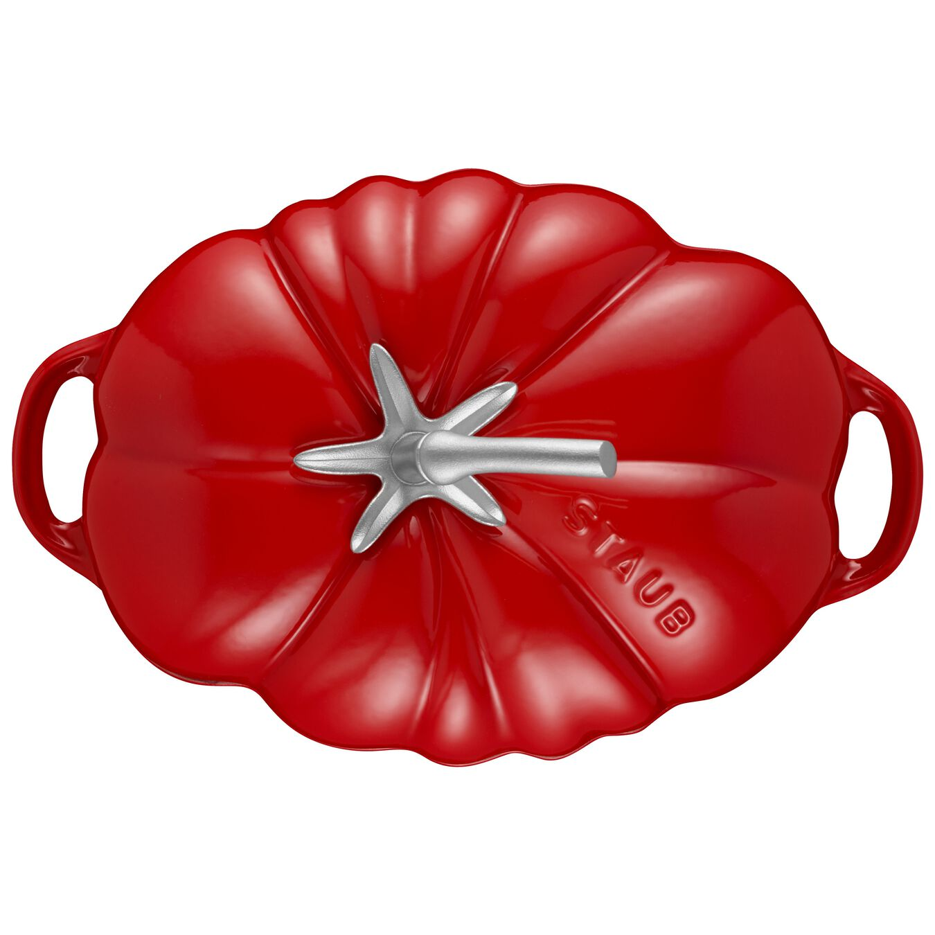 Cocotte 25 cm, Tomate, Kirsch-Rot, Gusseisen,,large 2