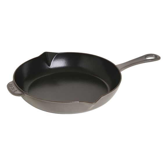 26-cm-/-10-inch Enamel Frying pan with pouring spout,,large 2