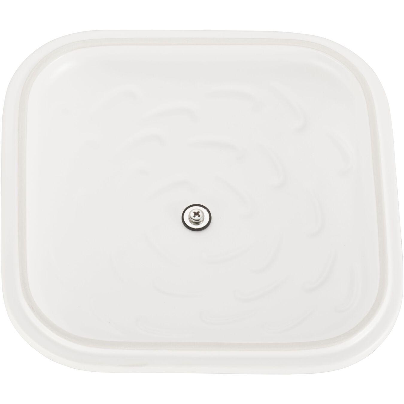 Ceramic square Special shape bakeware, matte-white,,large 5