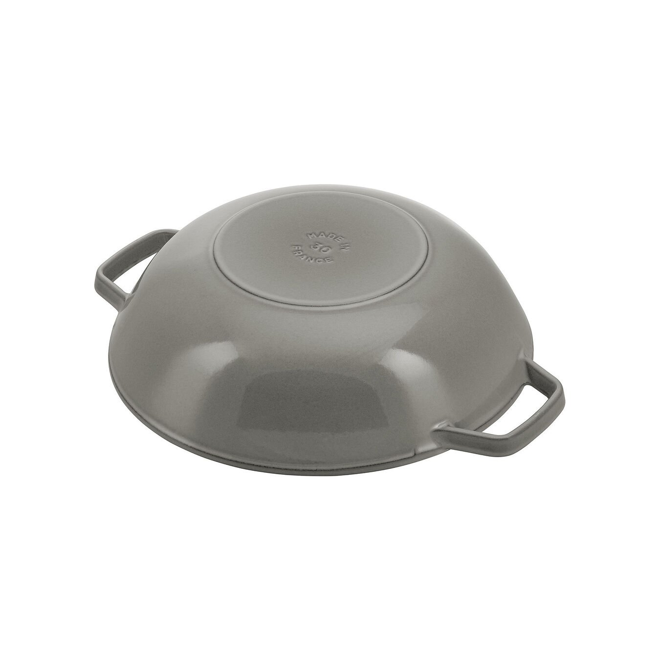 30 cm / 12 inch Wok with glass lid, graphite-grey,,large 2