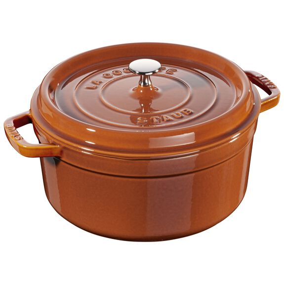 5.5-qt Round Cocotte - Burnt Orange,,large