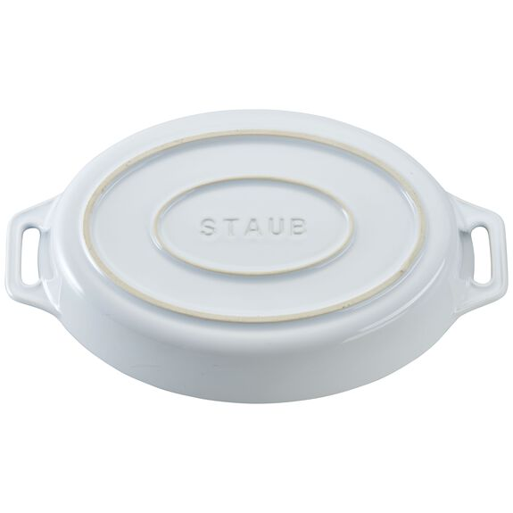 Ceramic Oval Baking Dish, White,,large 3