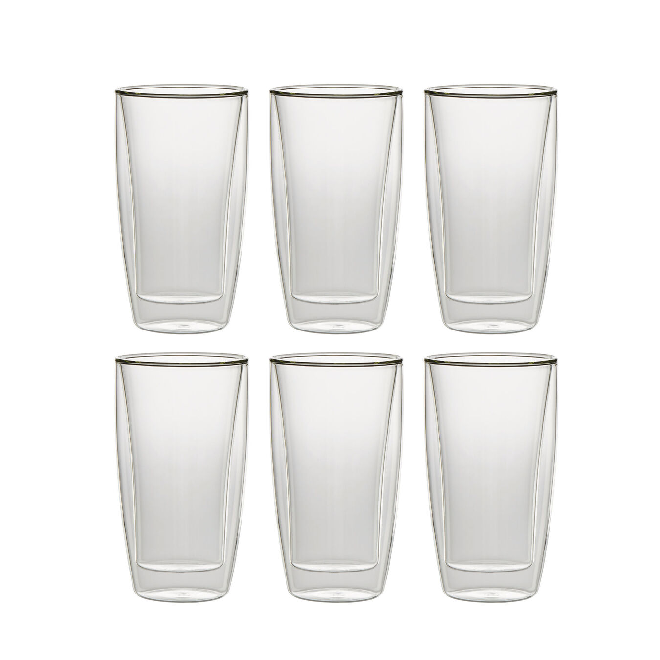 6 Piece Double-Wall Beverage Glass Set,,large 1