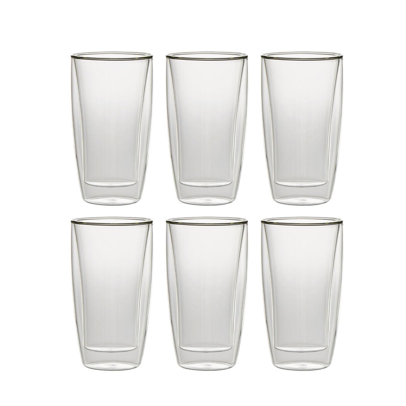 6-pcs Service de verres à macchiato latte,,large 1