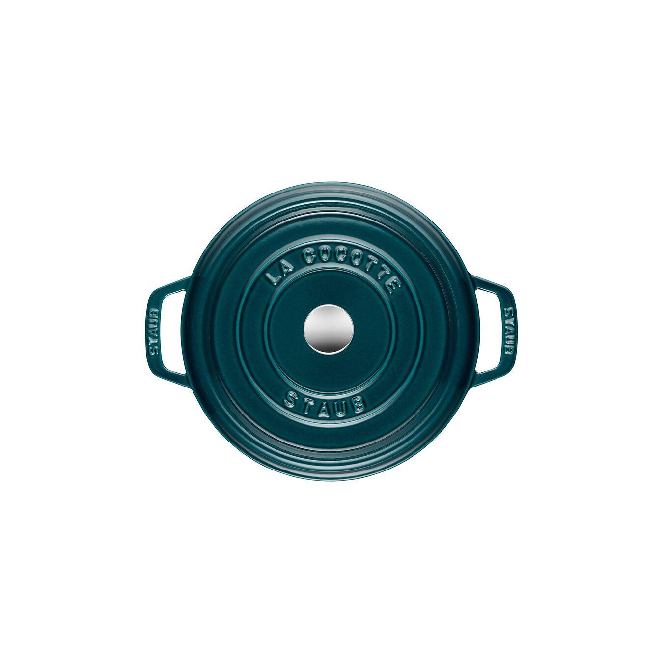 Cocotte en fonte 24 cm / 3,8 l, Rond, Blue La-Mer,,large 9