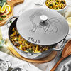 3.75 qt, Essential French Oven Rooster Lid, graphite grey,,large