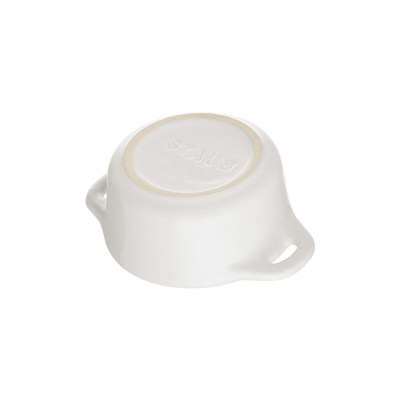 Mini Cocotte 10 cm, redondo, Branco puro, Cerâmica,,large 4