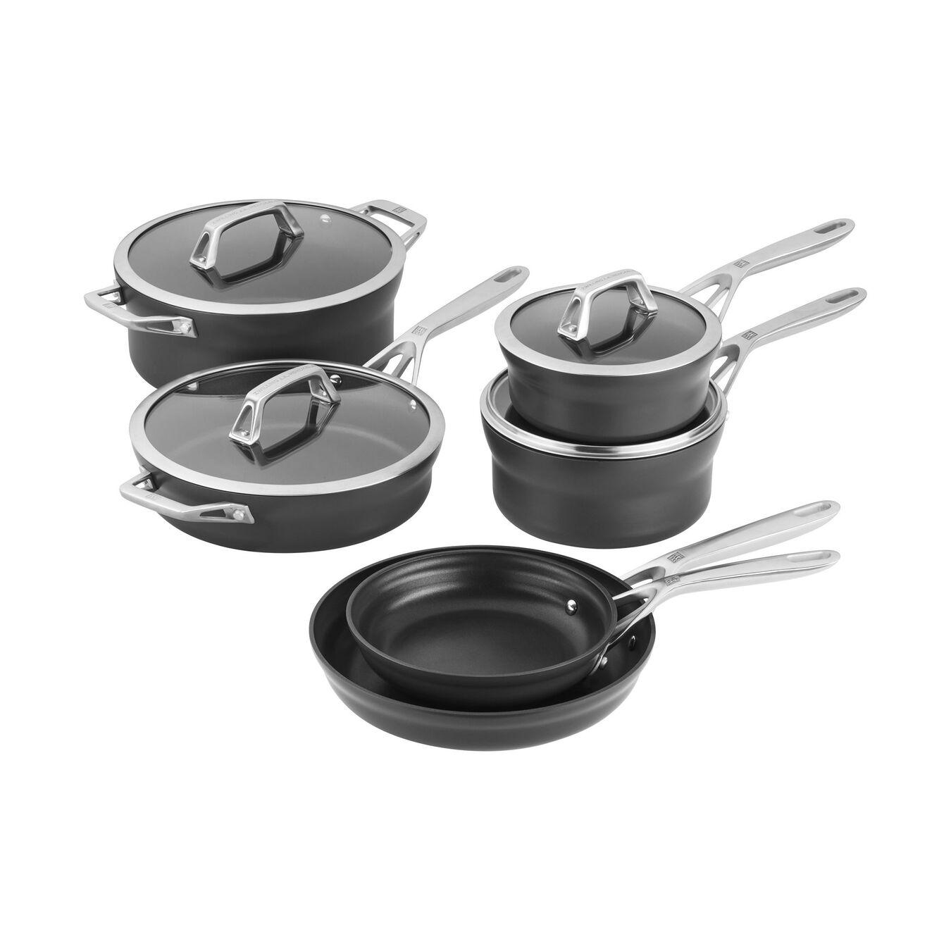 10-pc Hard Anodized Nonstick Cookware Set, aluminium ,,large 1