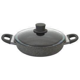 BALLARINI Murano,  round Saucier and sauteuse with glass lid, stone grey