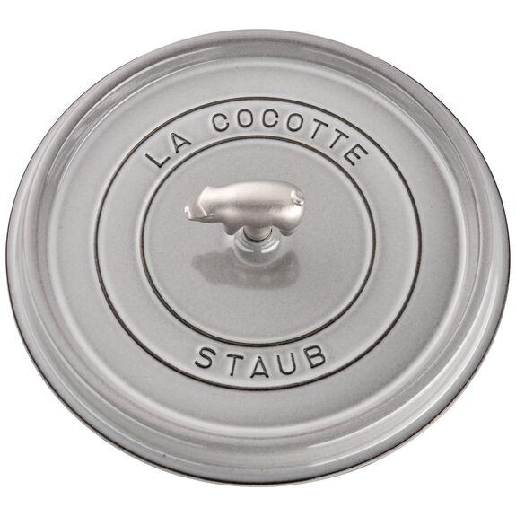 6-qt Cochon Shallow Wide Round Cocotte - Graphite Grey,,large 2