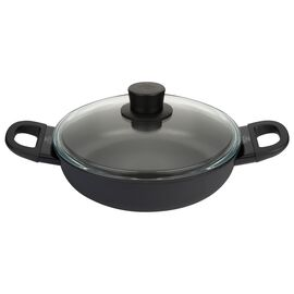 BALLARINI Avola,  round Saucier and sauteuse with glass lid, black