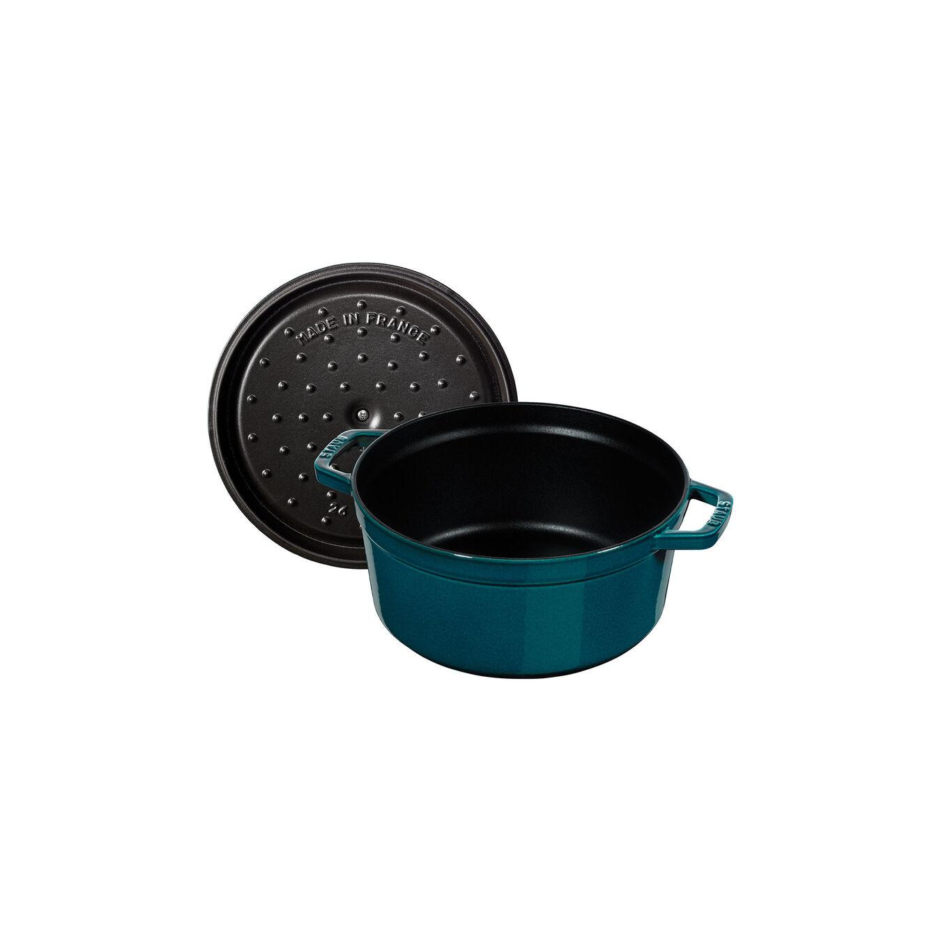 Cocotte en fonte 28 cm / 6,75 l, Rond, Blue La-Mer,,large 7