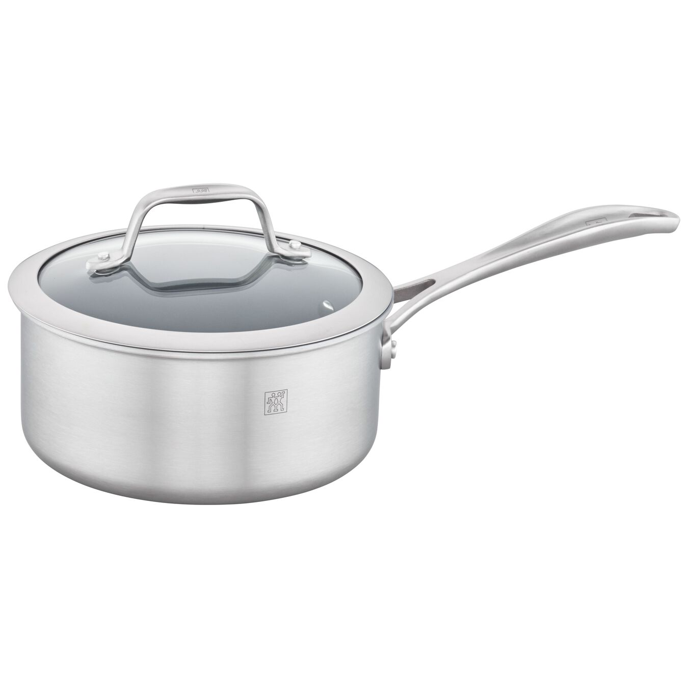 3-ply 2-qt Stainless Steel Ceramic Nonstick Saucepan,,large 1