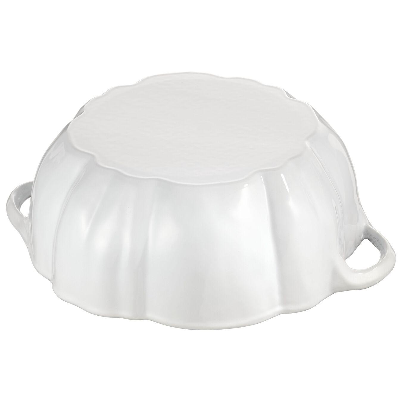3.5-qt Pumpkin Cocotte - White,,large 5