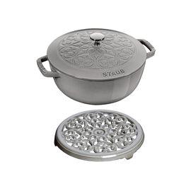 Staub La Cocotte, Ensemble de casseroles, 2-pcs | round | Cast iron | Graphite-Grey