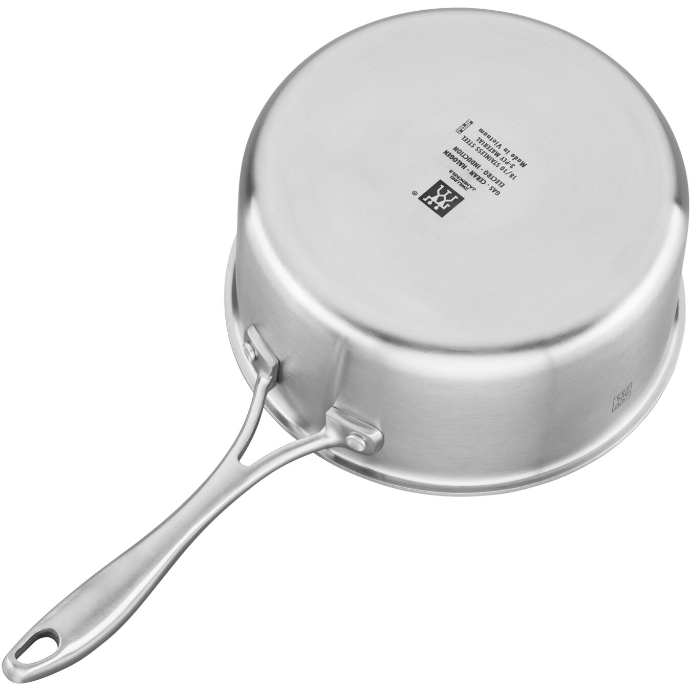 3-ply 3-qt Stainless Steel Ceramic Nonstick Saucepan,,large 4