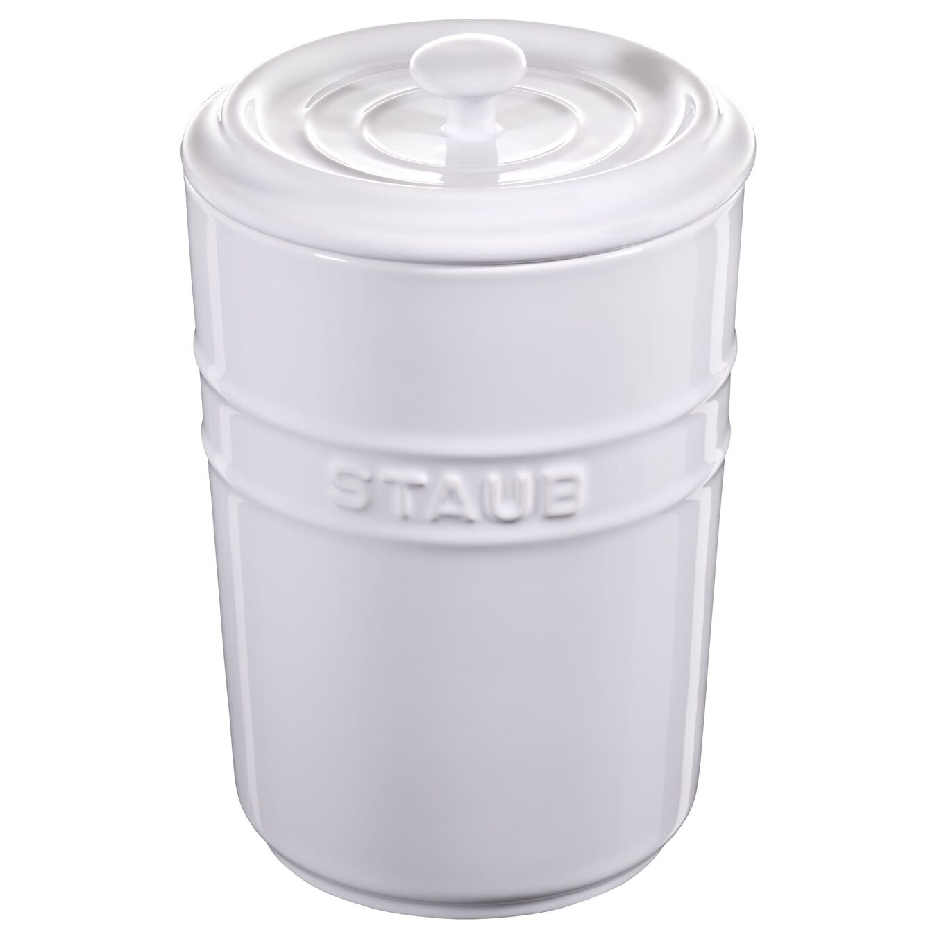 1.5 l Ceramic Storage pot, Pure-White,,large 1