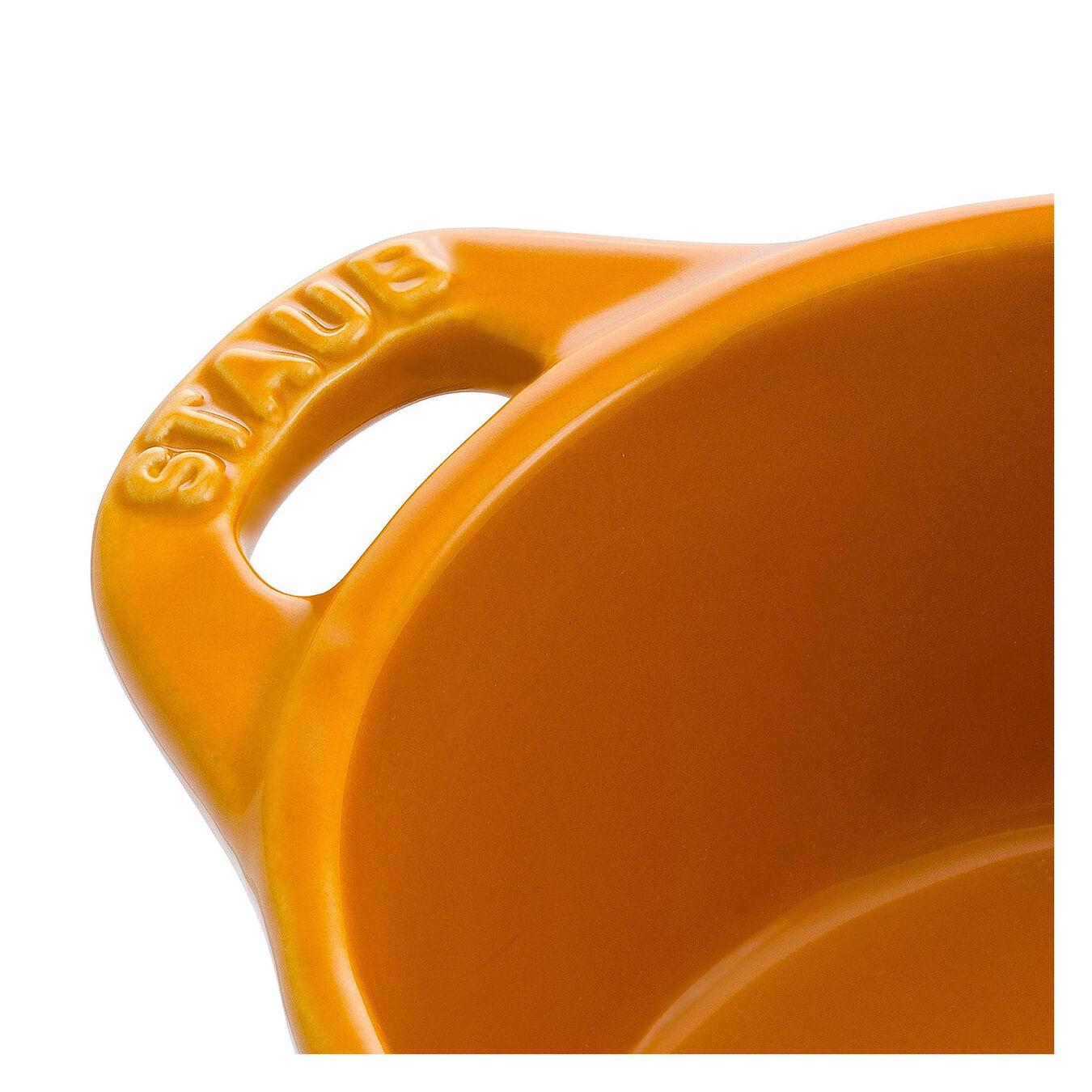 Mini Cocotte 10 cm, Rond(e), Moutarde, Céramique,,large 4