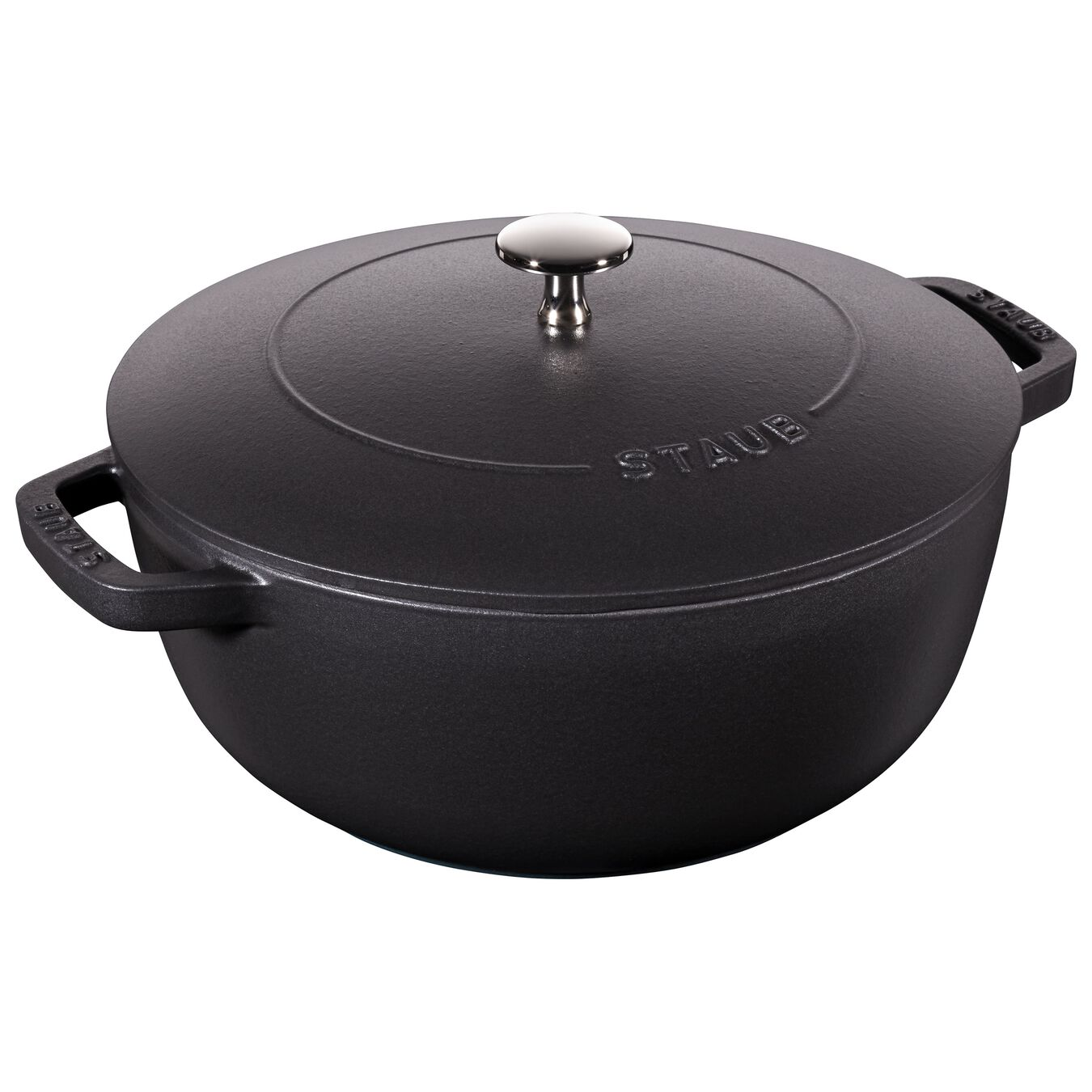 3.75 qt, French oven, black matte,,large 1