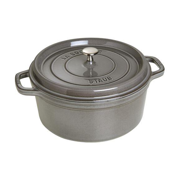 7.25-qt round Cocotte, Graphite Grey,,large 2