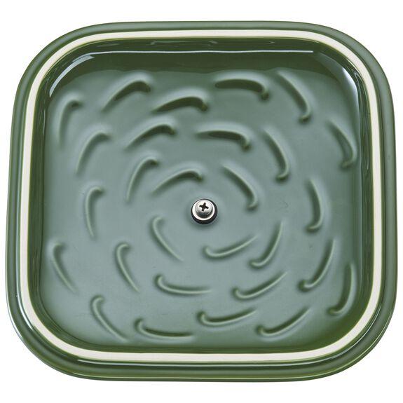 "9"" x 9"" Square Covered Baking Dish, Basil, , large 5"