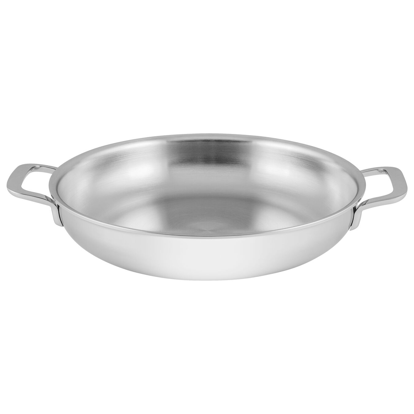 18/10 STAINLESS STEEL 28CM 7-PLY DOUBLE-HANDLED SKILLET,,large 1