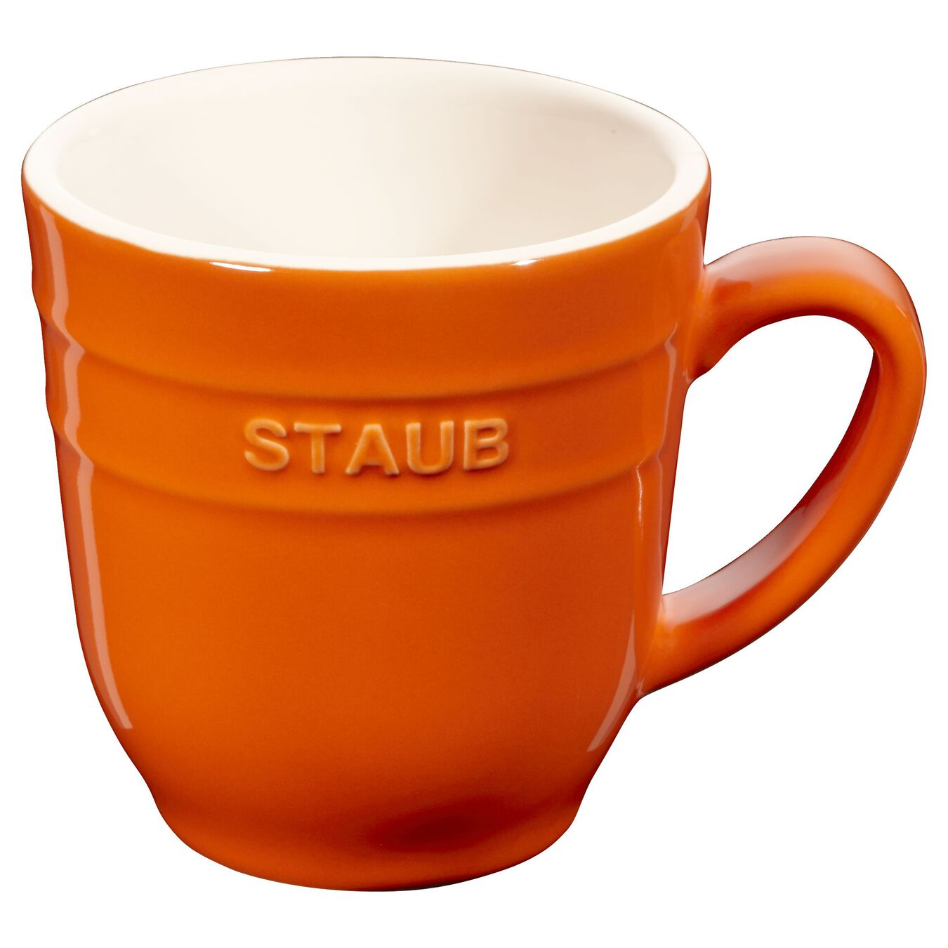 Mug 350 ml, Orange, Céramique,,large 1