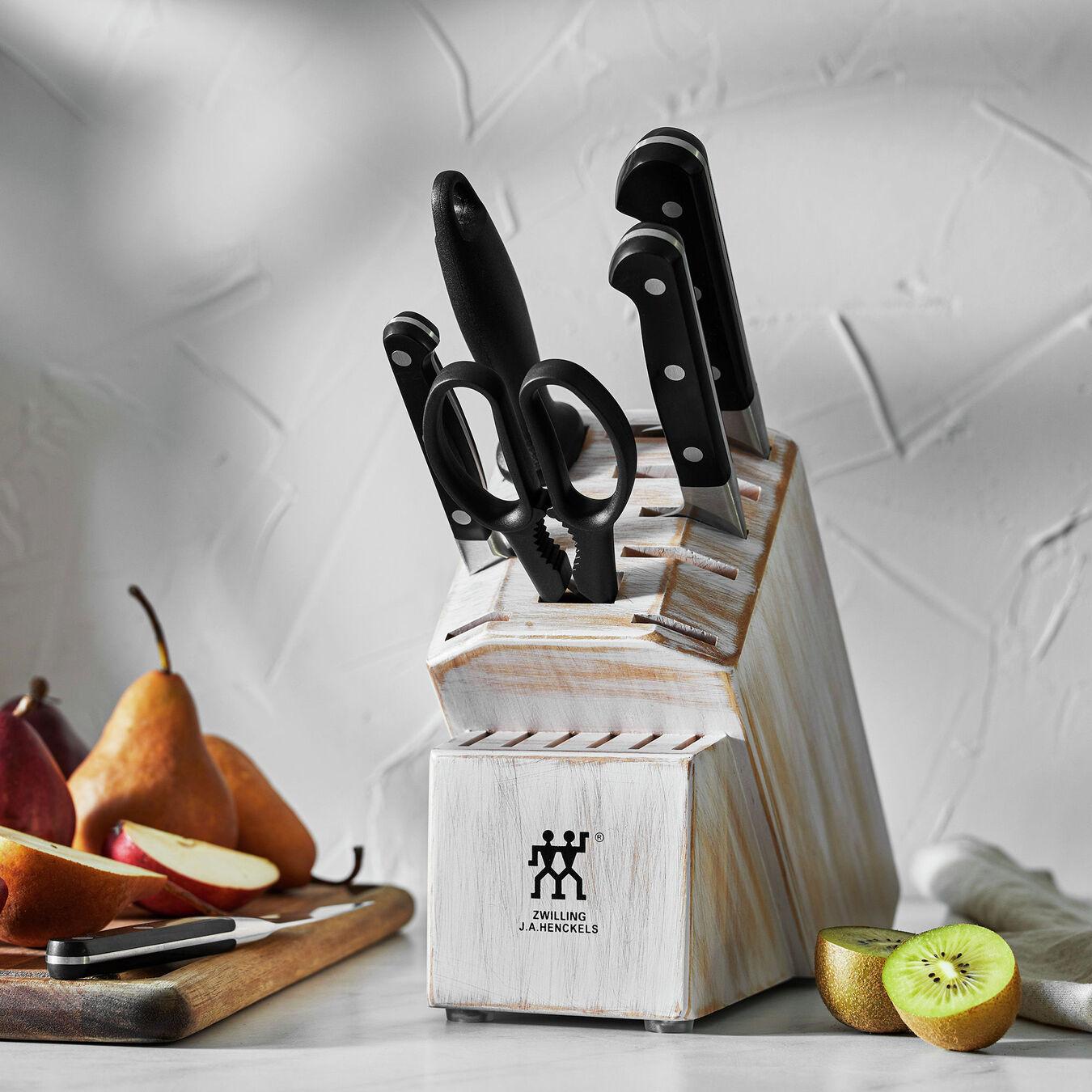 7-pc, Knife block set, rustic white,,large 7