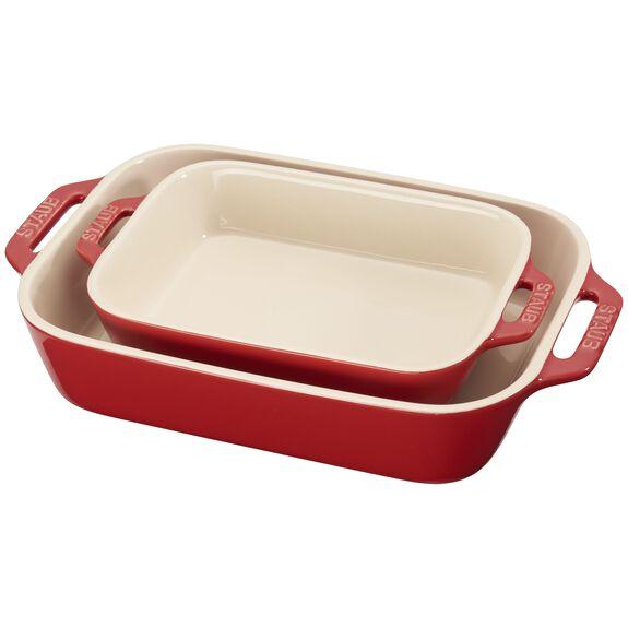 2-pc Rectangular Baking Dish Set - Cherry,,large