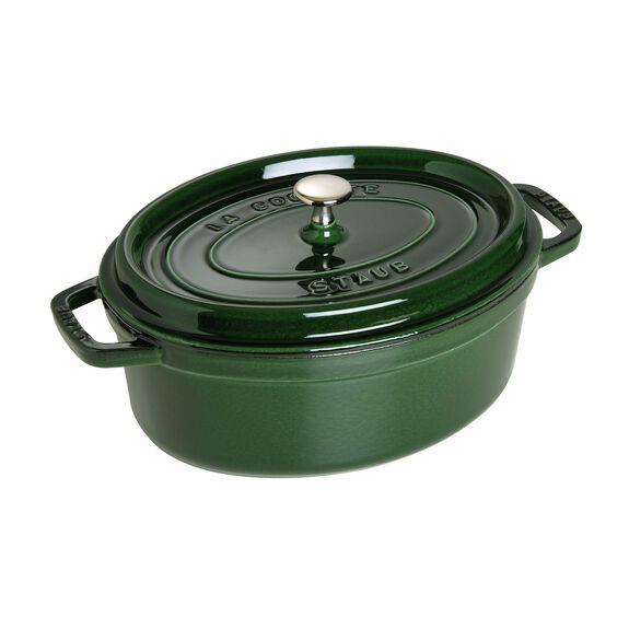 4.5-qt-/-29-cm oval Cocotte, Basil-Green,,large 2