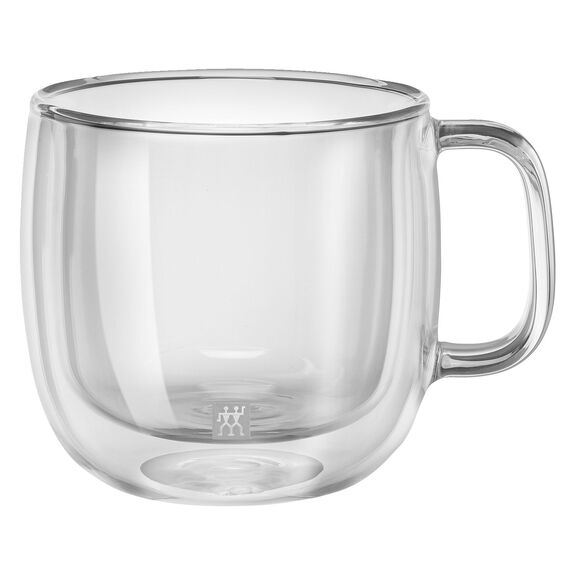 Çift Camlı Kulplu Cappuccino bardağı seti, 2-parça,,large