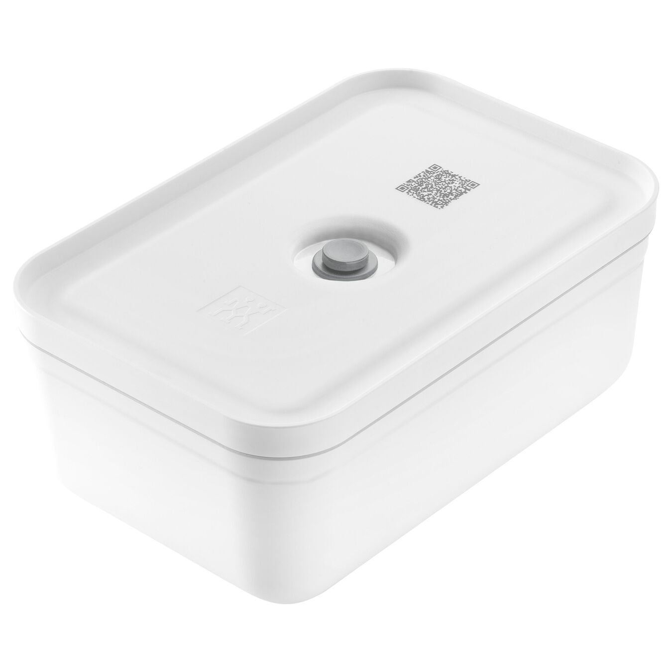 large Vacuum lunch box, plastic, white,,large 1
