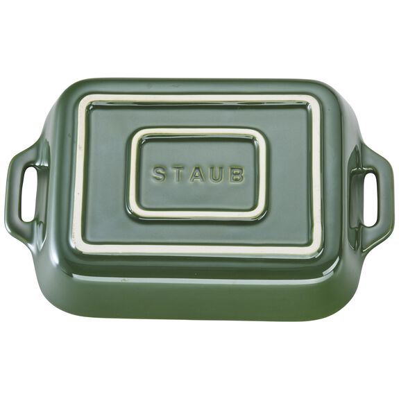 7.5-inch x 6-inch Rectangular Baking Dish - Basil,,large