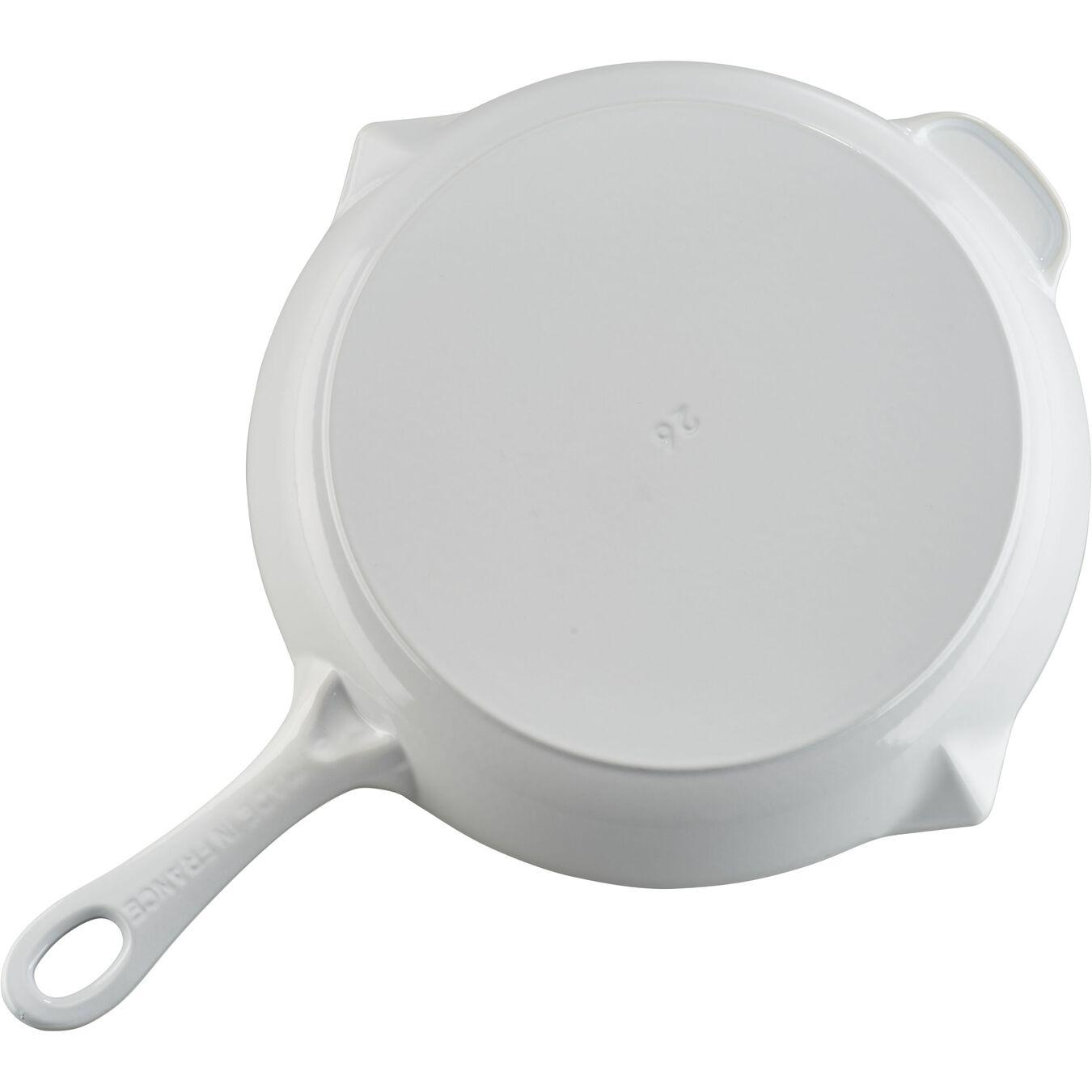 10-inch, Frying pan, white,,large 3