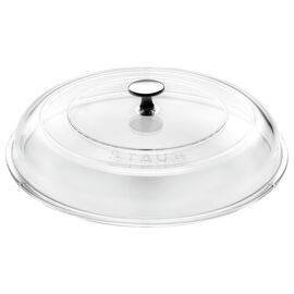 Staub Cast Iron, 8-inch Glass Lid domed made of glass