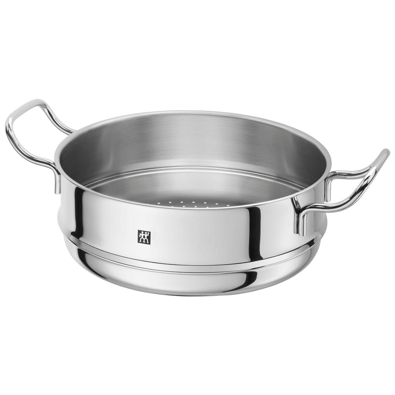 Buharda Pişirme Aparatı, Yuvarlak | 24 cm | 18/10 Paslanmaz Çelik | Metalik Gri,,large 1