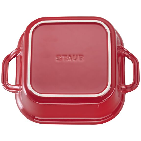 """9"""" x 9"""" Square Covered Baking Dish, Cherry, , large 3"""