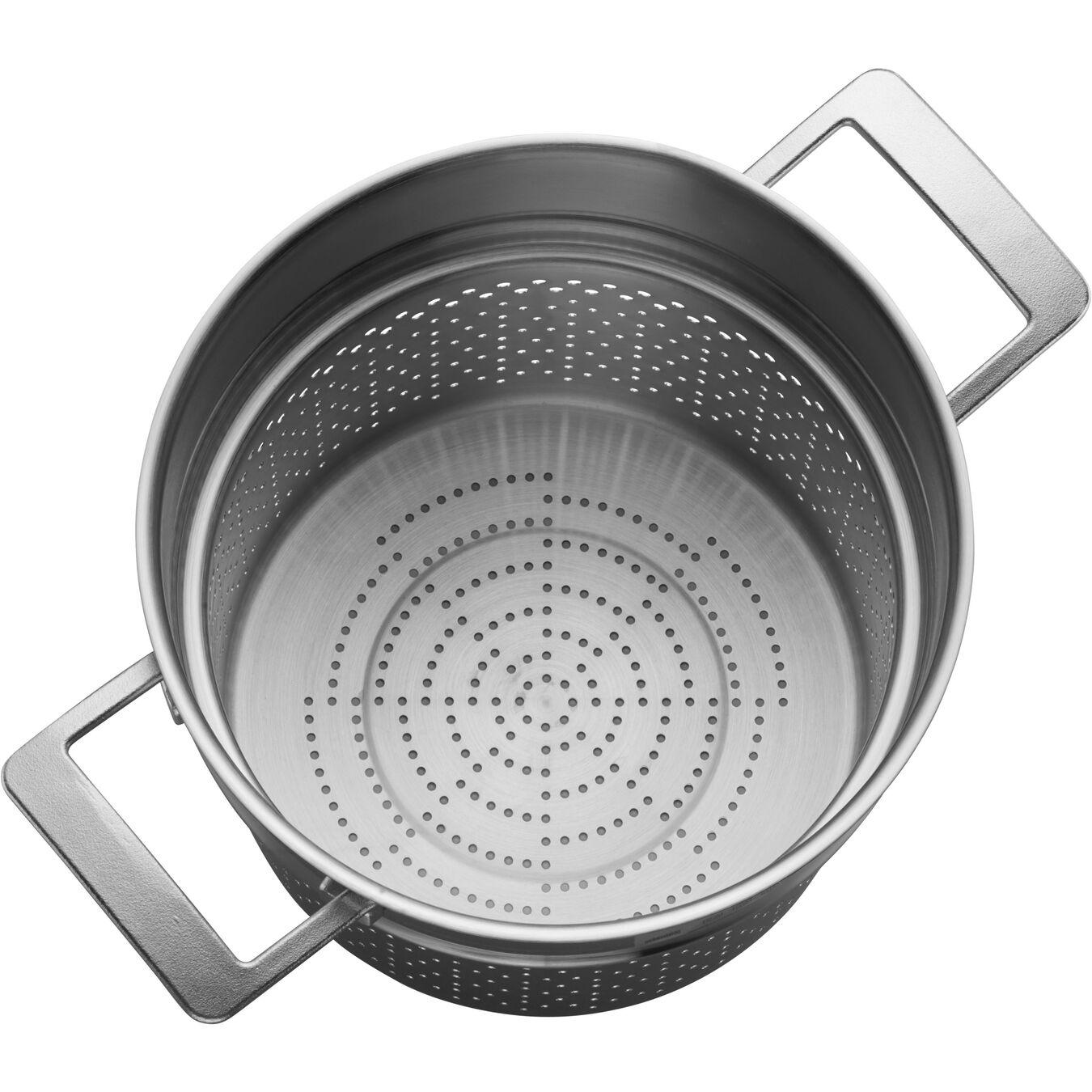 Panier à pâtes, Rond(e) | 24 cm | Argent,,large 2
