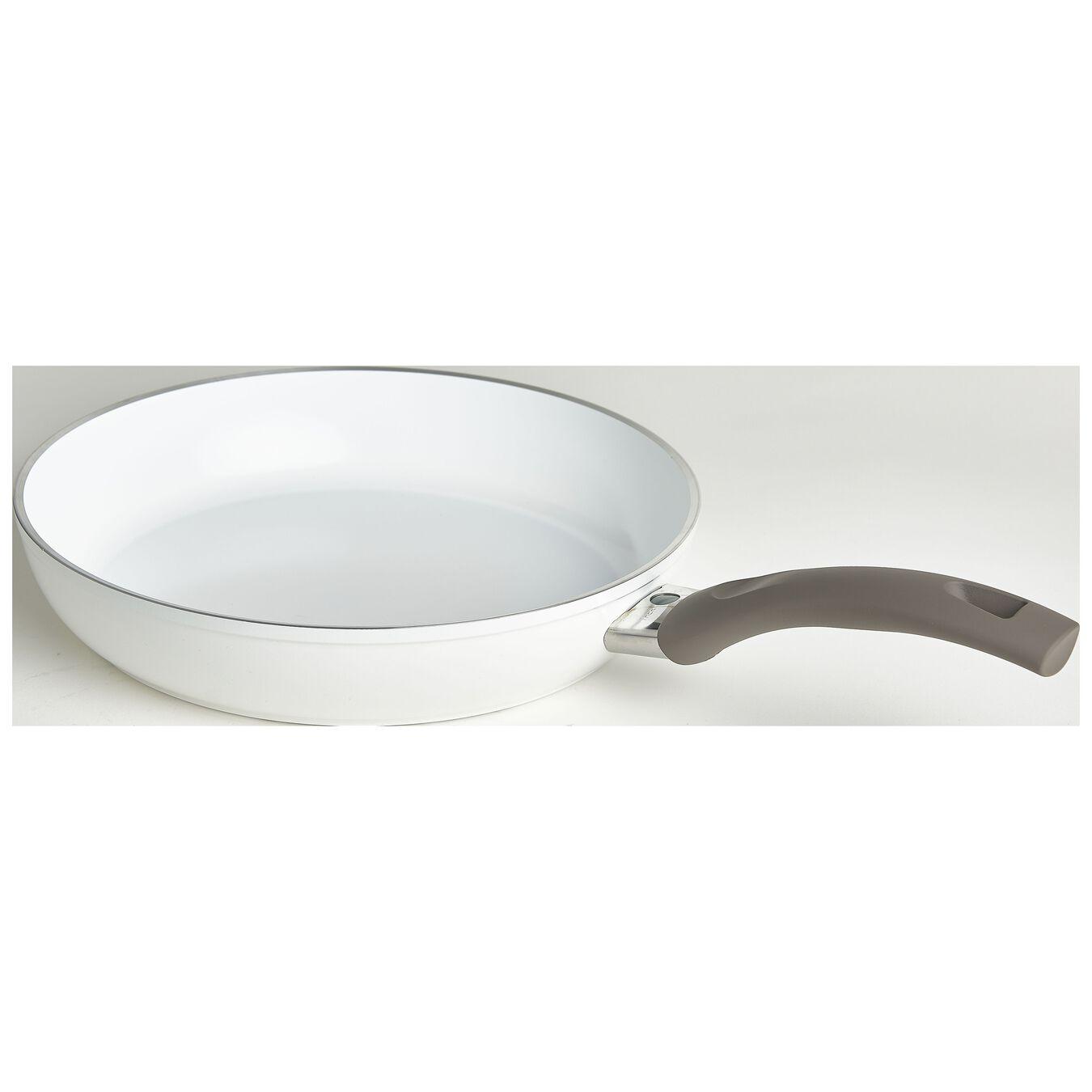 Bratpfanne flach 24 cm, Aluminium, Weiß,,large 2