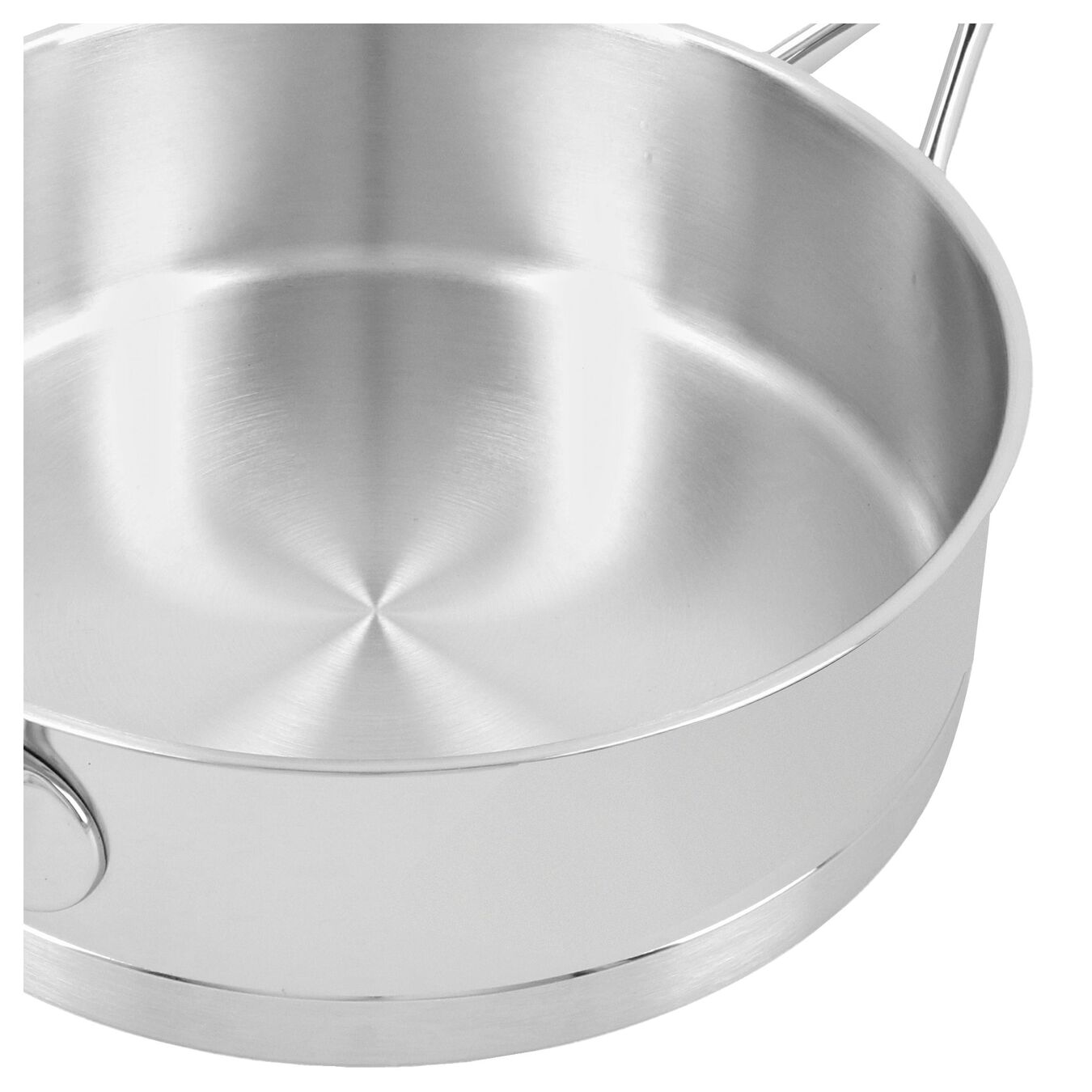 9.5-inch Sauté Pan with Helper Handle and Lid, 18/10 Stainless Steel ,,large 4