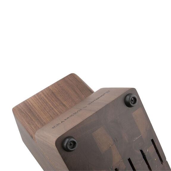 Knife block empty Walnut,,large 5