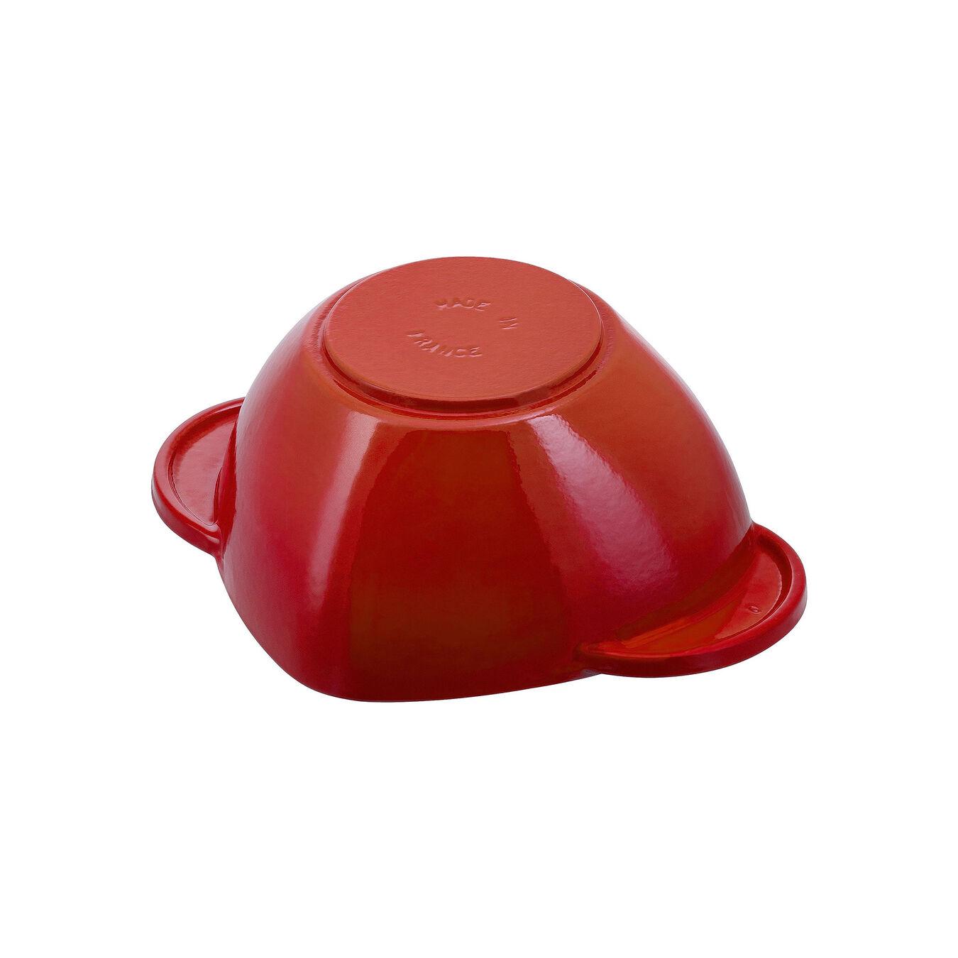 Caçarola 20 cm, coração, Vermelho cereja, Ferro fundido,,large 4