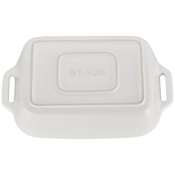 10.5x7.5-inch Rectangular Baking Dish, Matte White, , large 3
